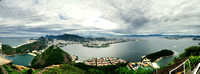 From Sugarloaf, a view up the harbour, Copacobana on the left to Niteroi across the harbour on the right
