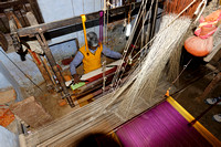 Sari weavers at work - about ½ m per day