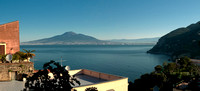 Vesuvius and Bay of Naples from Vico Equense