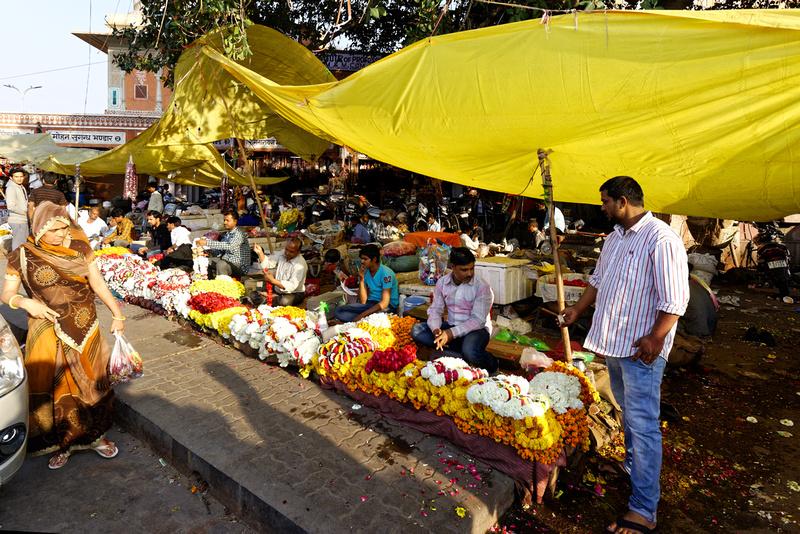 Jaipur Old City flower market