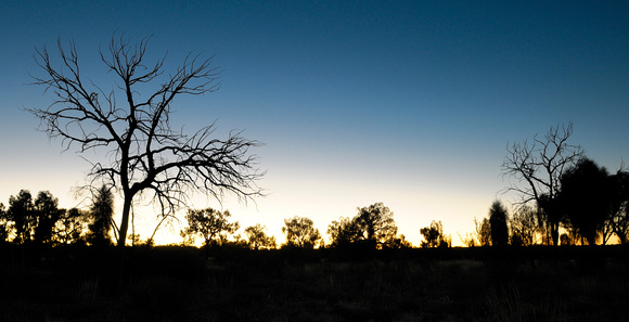 At Uluru - after sunset