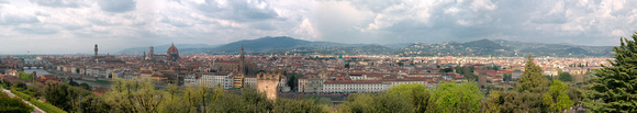 Florence skyline from Monte alle Croci