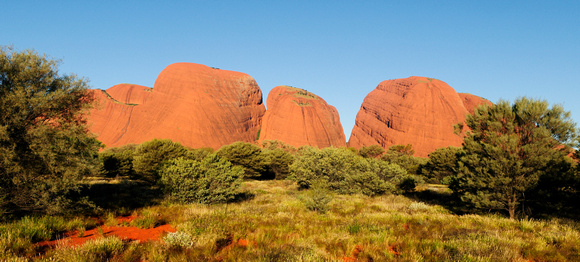 Long shadows near sunset - Kata Tjuta from the west