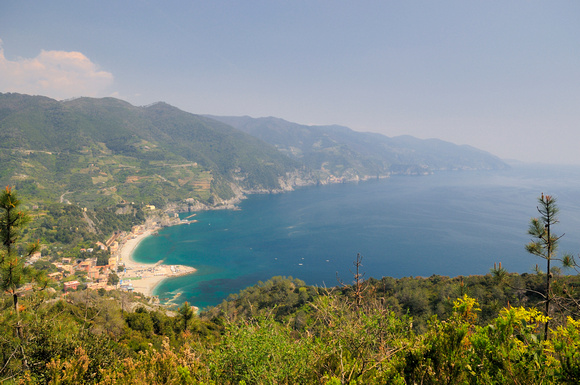 Northern end of Cinque Terre - looking south over Monterosso