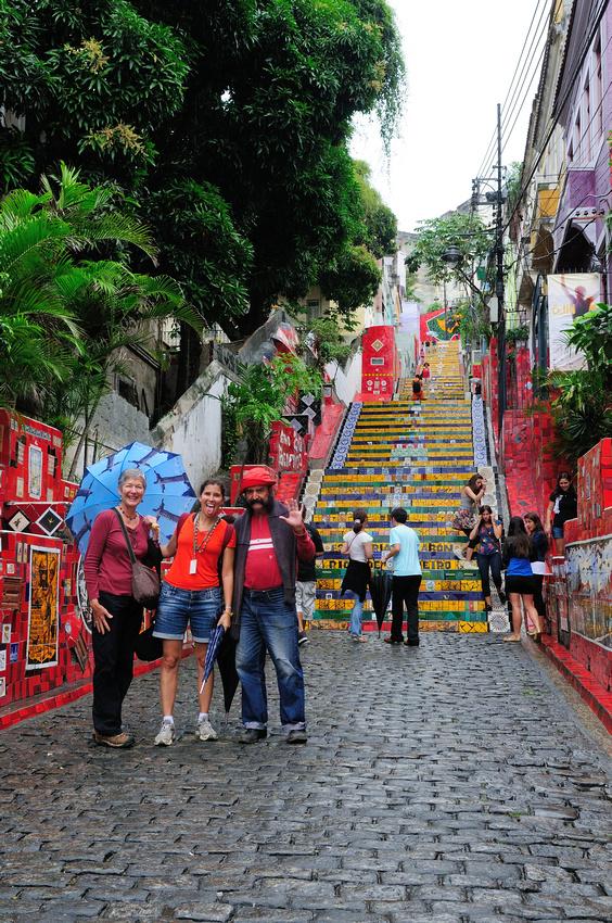 Escadaria Selaron - Sue, Lais and Jorge Selaraon