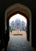 At the tomb of Humayun - second of Mughal emperors - built by his wife!
